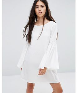 Pixie & Diamond | Цельнокройное Платье С Расклешенными Рукавами Кремовый