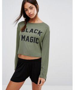 Adolescent Clothing | Пижамный Комплект С Лонгсливом И Шортами Black Magic