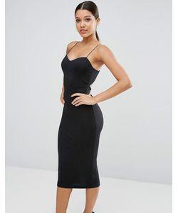 Asos | Облегающее Платье Миди На Бретельках