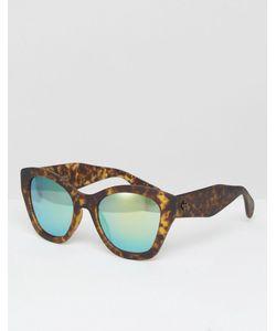 Toyshades | Солнцезащитные Очки Кошачий Глаз С Зеркальными Стеклами Коричневый