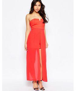 Jovonna | Платье С Длинным Верхним Слоем Nico