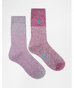 PENGUIN | 2 Пары Фиолетовых Толстых Носков Из Крученой Нити