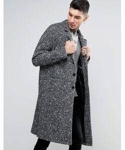 Asos | Фактурное Черно-Белое Пальто