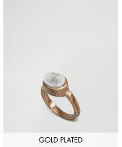 LOW LUV | Позолоченное Кольцо С Камнем Золотой