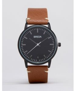 Breda | Часы Со Светло-Коричневым Кожаным Ремешком И Черным Циферблатом Zapf