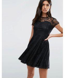 Madam Rage | Кружевное Короткое Приталенное Платье