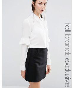 Fashion Union Tall | Блузка С Оборкой На Рукавах Кремовый