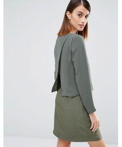 Selected   Платье С Запахом Сзади Pica Зеленый