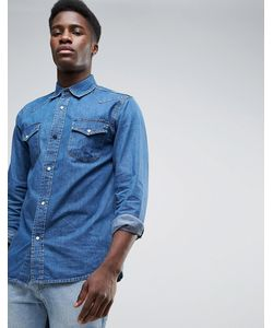 Waven | Синяя Джинсовая Рубашка В Стиле Вестерн