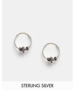 Kingsley Ryan | Серебряные Серьги-Кольца 10 Мм С Отделкой