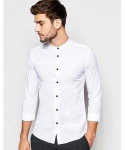 Asos | Рубашка Скинни С Воротником На Пуговице И Контрастными Пуговицами