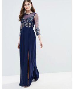 Little Mistress | Полупрозрачное Декорированное Платье Макси