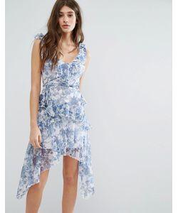 boohoo | Платье С Цветочным Принтом И Оборками