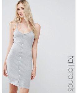 Missguided Tall | Облегающее Платье Мини На Пуговицах