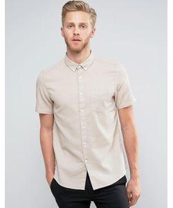 Burton Menswear | Приталенная Рубашка С Короткими Рукавами И Вафельной Текстурой