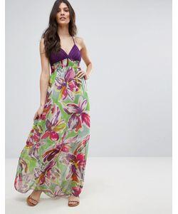 Jasmine | Платье Макси С Тропическим Принтом