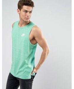 Nike | Зеленая Трикотажная Майка 882153-351