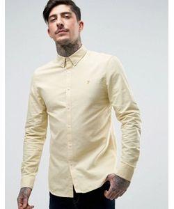Farah | Желтая Оксфордская Рубашка Слим Brewer