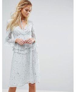 boohoo | Платье С Принтом И Оборками