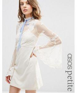 ASOS PETITE | Платье Бэби Долл Мини С Высокой Горловиной