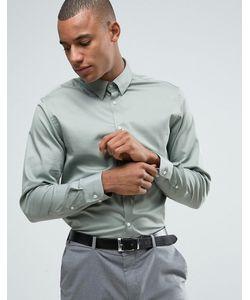 Selected Homme | Приталенная Рубашка С Воротником На Скрытых Пуговицах