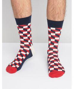 Happy Socks | Носки С Оптическим Принтом