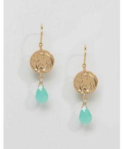 Orelia   Coin And Teardrop Earrings