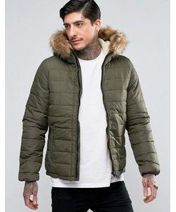 Schott | Стеганая Куртка Со Съемной Отделкой Из Искусственного Меха