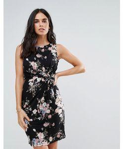 Uttam Boutique | Короткое Приталенное Платье С Принтом