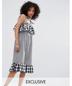 Milk It | Комбинируемое Платье В Клетку С Бретельками Vintage