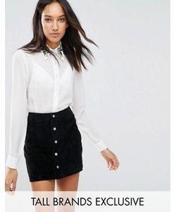 Fashion Union Tall | Рубашка С Вышивкой На Воротнике