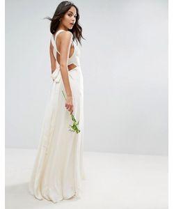 Asos | Платье Макси С Глубоким Вырезом И Бретельками Bridal