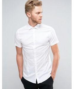 Jack & Jones | Суперузкая Строгая Рубашка-Премиум С Короткими Рукавами