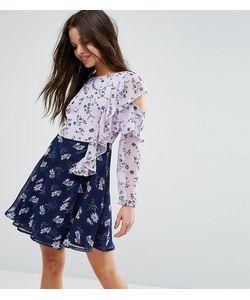 ASOS PETITE | Платье Мини С Вырезами На Плечах И Оборками