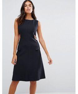 YMC | Приталенное Платье С Вырезами По Бокам