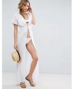 Asos | Пляжная Рубашка Макси С Поясом Premium