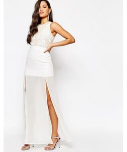 MISSGUIDED | Платье Макси С Отделкой На Топе Premium