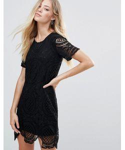 Qed London | Платье Мини С Кружевным Верхним Слоем