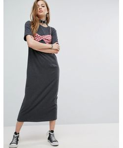 Asos | Платье-Рубашка Макси С Декоративным Бюстгальтером