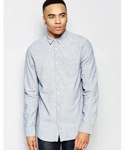 New Look | Бледно-Голубая Льняная Рубашка Классического Кроя