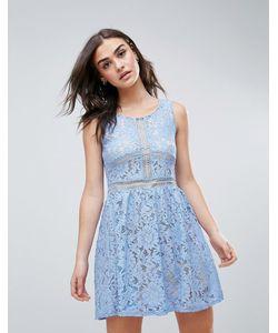 Qed London | Кружевное Короткое Приталенное Платье