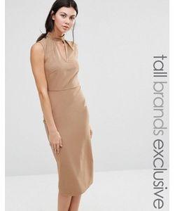 Alter Tall | Платье-Футляр Без Рукавов С Высоким Воротом И Вырезом Капелькой