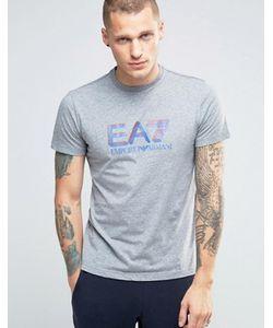 EA7 | Серая Футболка С Логотипом Emporio Armani