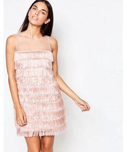 Rare | Цельнокройное Платье С Бахромой
