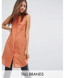 Vero Moda Tall | Платье-Рубашка С Карманами В Стиле Милитари