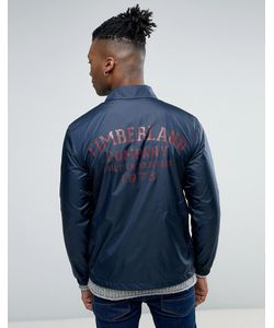 Timberland | Темно-Синяя Узкая Куртка С Логотипом На Спине