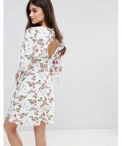 Vero Moda   Короткое Приталенное Платье С Цветочным Принтом