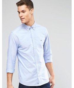 Tommy Hilfiger | Синяя Оксфордская Рубашка Классического Кроя