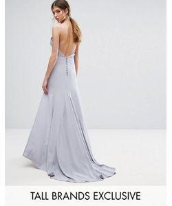 Jarlo Tall   Button Back Cami Strap Maxi Dress