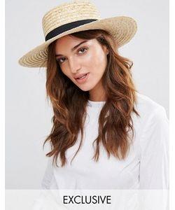 South Beach | Соломенная Шляпа С Черной Лентой
